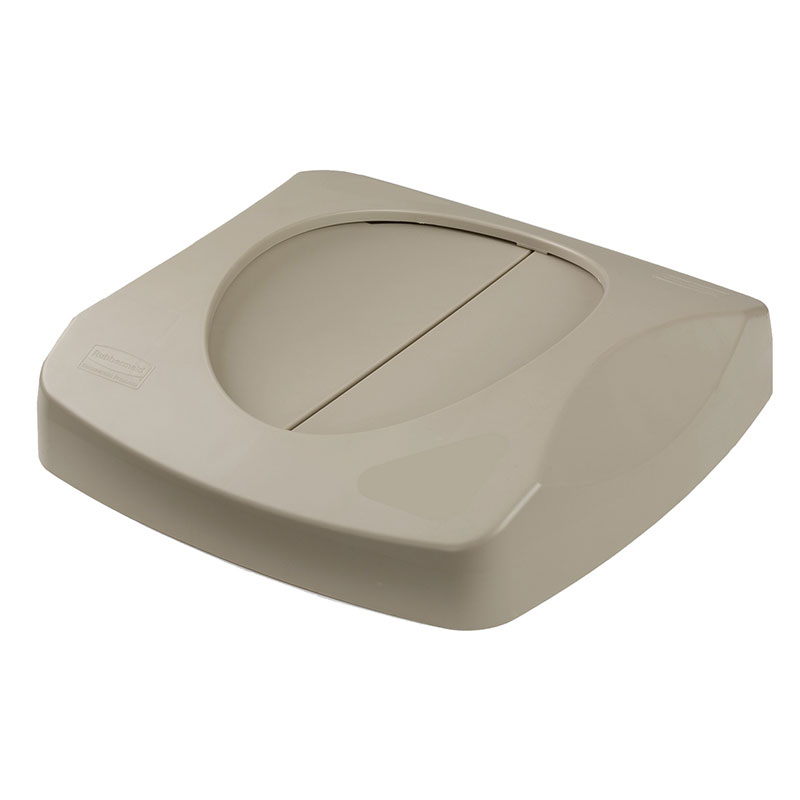 Rubbermaid FG268988BEIG Square Swing Top Trash Can Lid - Plastic, Beige