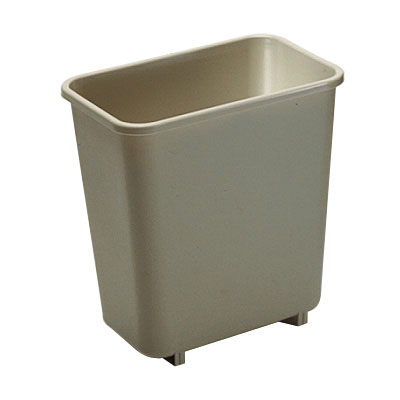 Rubbermaid FG295200BEIG 8.125-qt Rectangle Waste Basket - Plastic, Beige