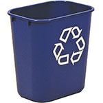 Rubbermaid FG295573BLUE 3.4-gal Multiple Material Recycle Bin - Indoor