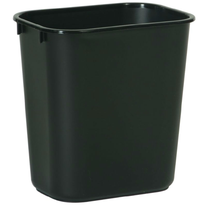 Rubbermaid FG295500BLA 13-5/8-qt Waste Basket - Black