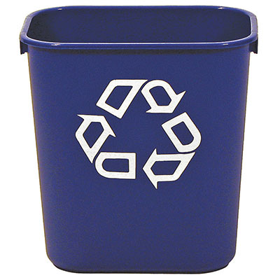 Rubbermaid FG295606GRN 28-qt Deskside Recycling Container - Green