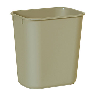 Rubbermaid FG295600BEIG 28-qt Waste Basket - Beige