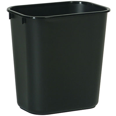 Rubbermaid FG295600BLA 28-qt Waste Basket - Black