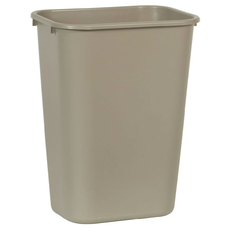 Rubbermaid FG295700BEIG 10.3-gal Multiple Material Recycle Bin - Indoor