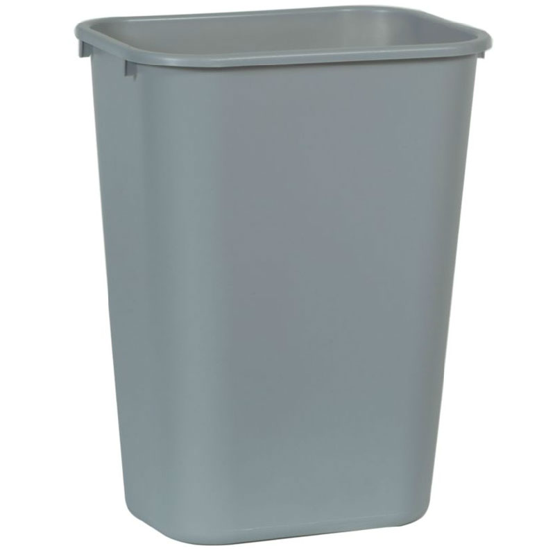 Rubbermaid FG295700GRAY 41-1/4-qt Deskside Recycling Container - Gray