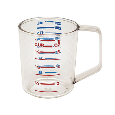 Rubbermaid FG321600CLR 1-qt Bouncer Measuring Cup - Clear Poly