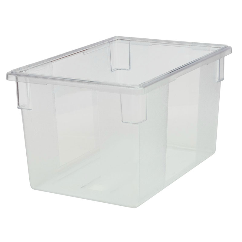Rubbermaid FG330100CLR 21-1/2-gal Food/Tote Box - Clear Poly