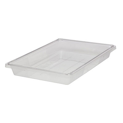 "Rubbermaid FG331000CLR Food/Tote Box Lid - 18x12"" Clear Poly"