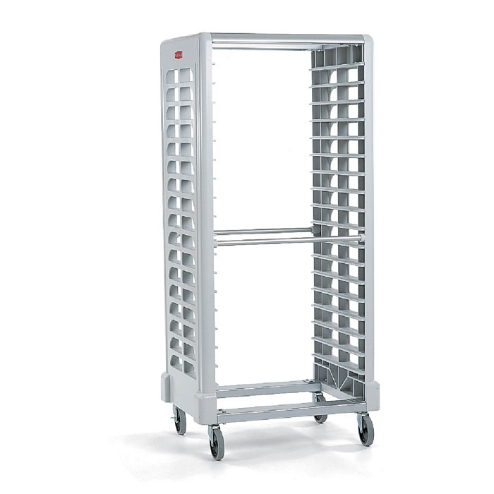 "Rubbermaid FG331900OWHT Max System Rack - 18 Slot Side-Loader, 23-3/4x18-5/8x67-7/8"" Black"