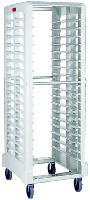 "Rubbermaid FG332000OWHT Max System Rack - 18 Slot End-Loader, 28-3/4x23-3/4x67-7/8"" Off-White"