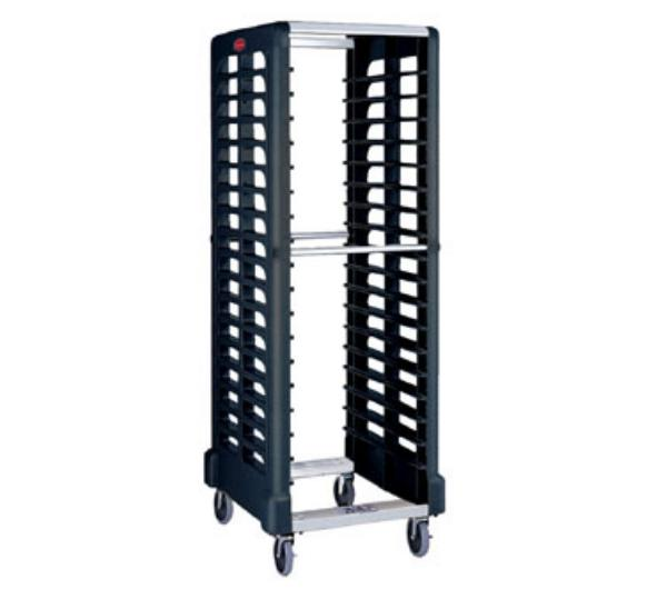 "Rubbermaid FG332400BLA Max System Rack - 18 Slot Dual-Loader, 28-3/4x23-3/4x67-7/8"" Black"