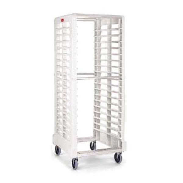 "Rubbermaid FG332400OWHT Max System Rack - 18 Slot Dual-Loader, 28-3/4x23-3/4x67-7/8"" Off-White"