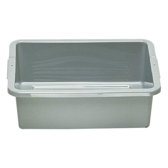 "Rubbermaid FG334900GRAY 4-5/8-gal Bus/Utility Box - 20x15x5"" Gray"