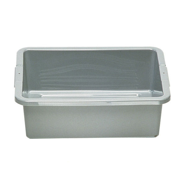 "Rubbermaid FG335100GRAY 7-gal Bus/Utility Box - 21-1/2x17-1/8x7"" Gray"