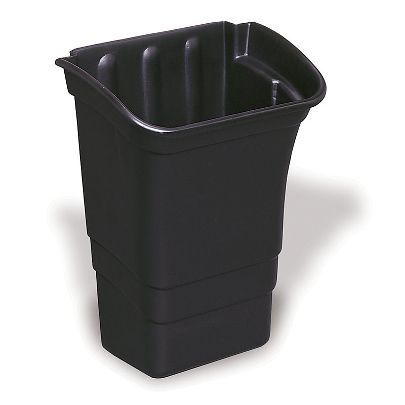 "Rubbermaid FG335388BLA 8-gal Refuse Bin - 22x17x12"" Black"