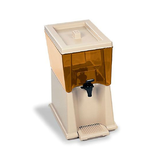 Rubbermaid FG335800CLR 3-gal Beverage Dispenser - Clear Poly