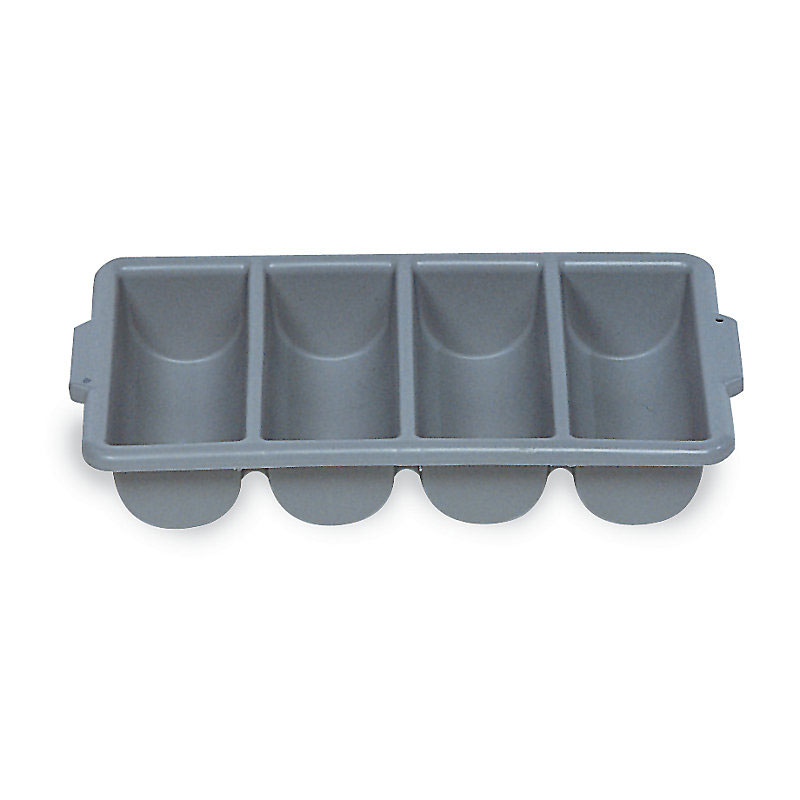 Rubbermaid FG336200GRAY 4-Compartment Cutlery Bin, Gray