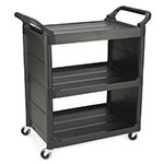 "Rubbermaid FG342100BLA 3-Shelf Utility Cart - 33-5/8x18-5/8x36-3/4"" Black"
