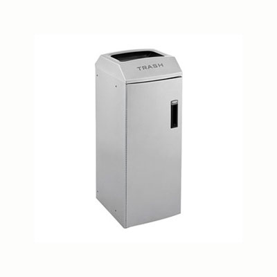 Rubbermaid 3485982 21-gal Multiple Material Recycle Bin - Indoor, Decorative & Fire Resistant