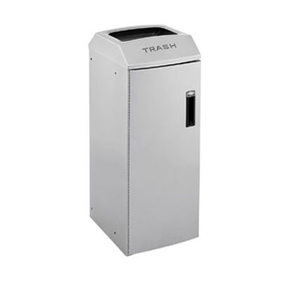 Rubbermaid 3485983 21-gal Multiple Material Recycle Bin - Indoor, Decorative & Fire Resistant