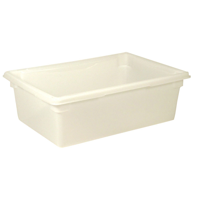 "Rubbermaid FG350000WHT 12-1/2-gal Food/Tote Box - 26x18x9"" White Poly"