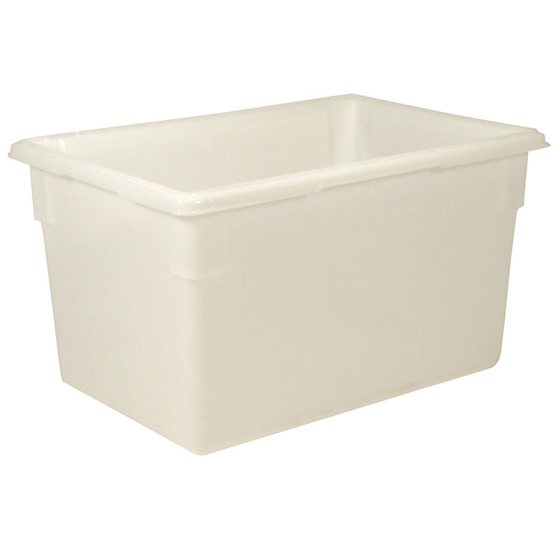 "Rubbermaid FG350100WHT 21-1/2-gal Food/Tote Box - 26x18x15"" White Poly"