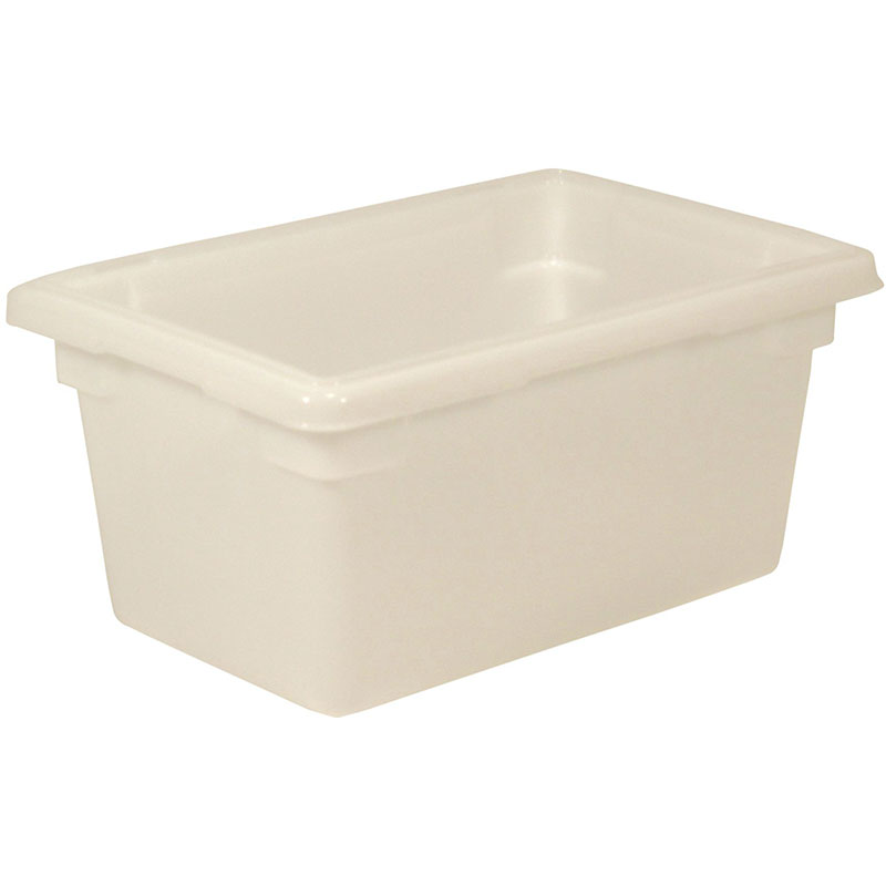 "Rubbermaid FG350400WHT 5-gal Food/Tote Box - 18x12x9"" White Poly"