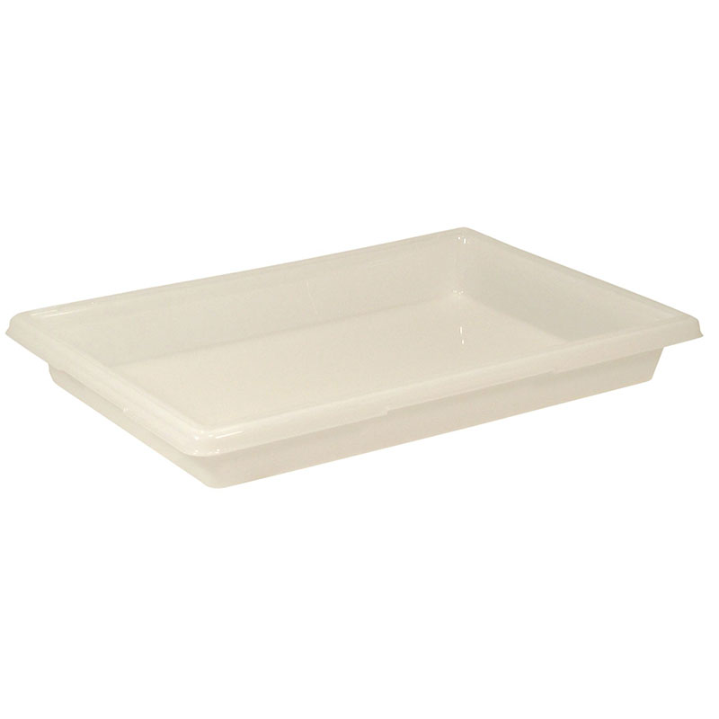 "Rubbermaid FG350600WHT 5-gal Food/Tote Box - 26x18x3-1/2"" White Poly"