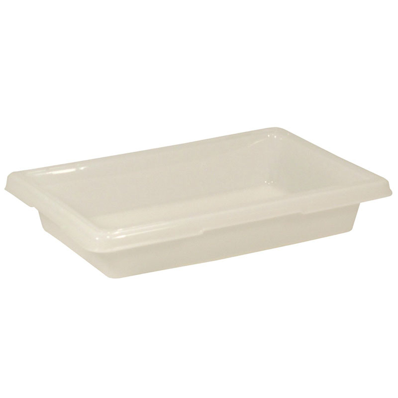 "Rubbermaid FG350700WHT 2-gal Food/Tote Box - 18x12x3-1/2"" White Poly"