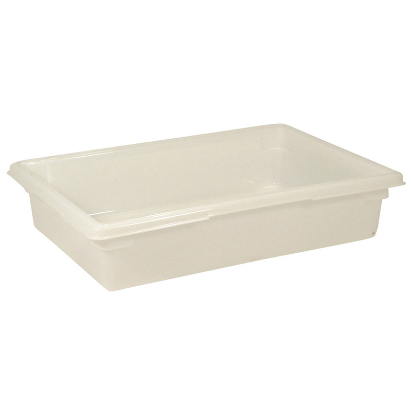 "Rubbermaid FG350800WHT 8-1/2-gal Food/Tote Box - 26x18x6"" White Poly"