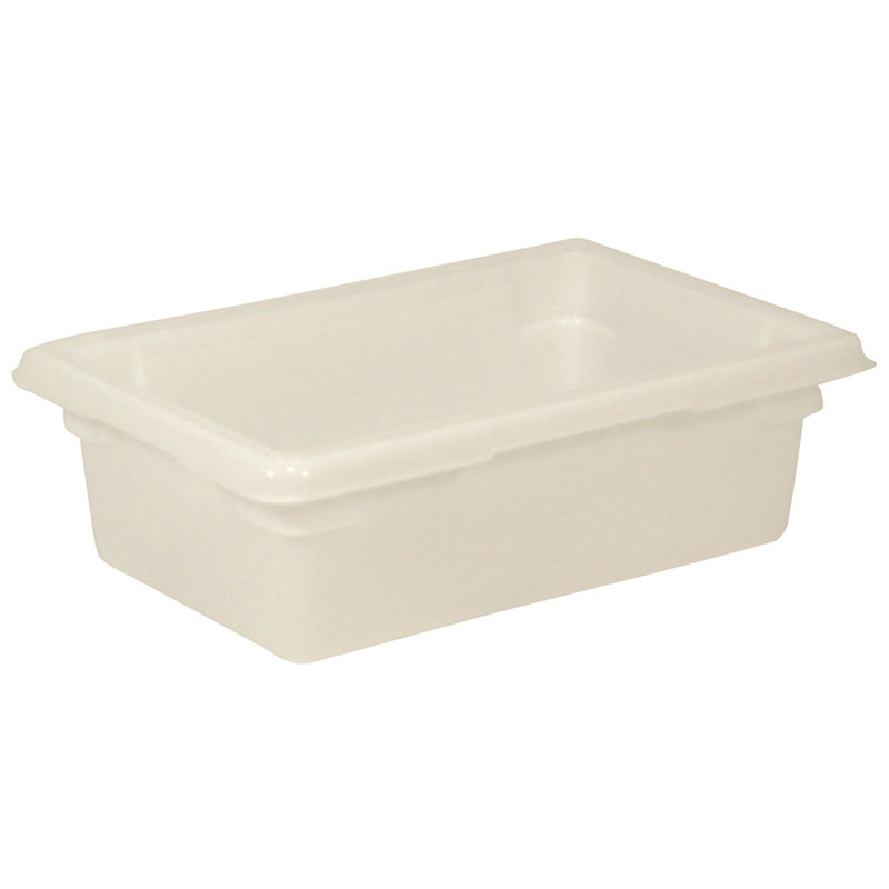 "Rubbermaid FG350900WHT 3-1/2-gal Food/Tote Box - 18x12x6"" White Poly"