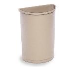 Rubbermaid FG352000BEIG 21-gal Half-Round Untouchable Container - Beige