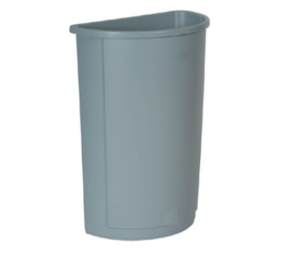 Rubbermaid FG352000GRAY Untouchable Container, Half Round, 21 Gallon, Plastic, Gray