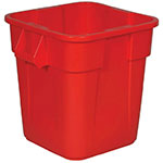 Rubbermaid FG352600RED 28-gallon Brute Trash Can - Plastic, Square, Built-in Handles