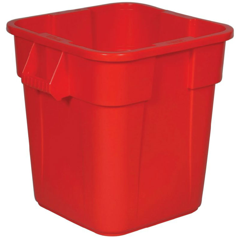 Rubbermaid FG352600RED 28-gal Square BRUTE Container - Red