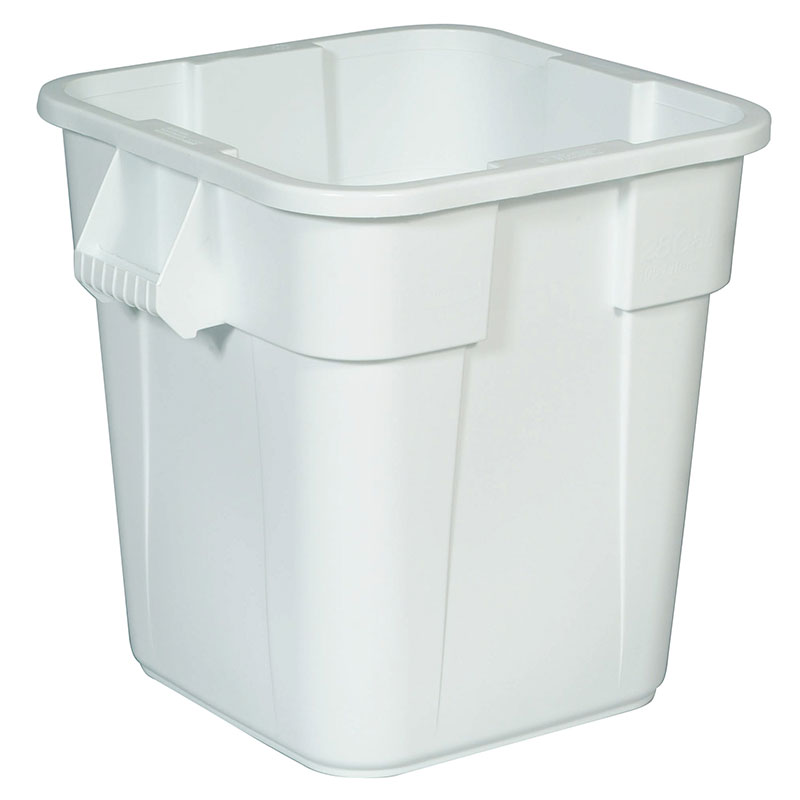Rubbermaid FG352600WHT 28-gal Square BRUTE Container - White