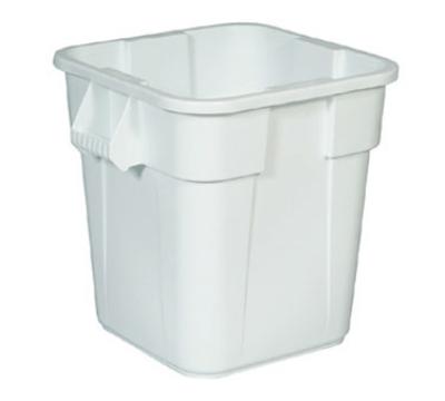 Rubbermaid FG352600WHT 28-gal Square BRUTE Container - White