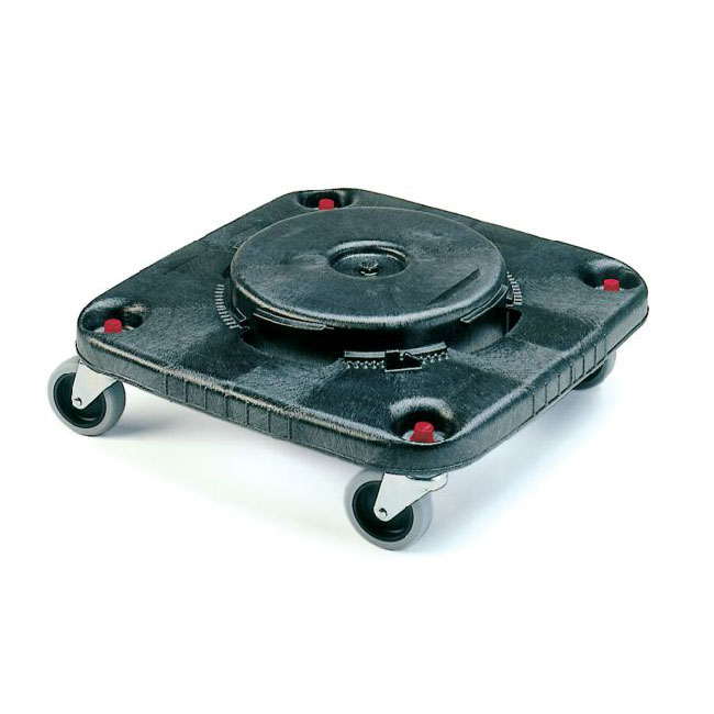 Rubbermaid FG353000BLA Square BRUTE Dolly - 250-lb Capacity, Black