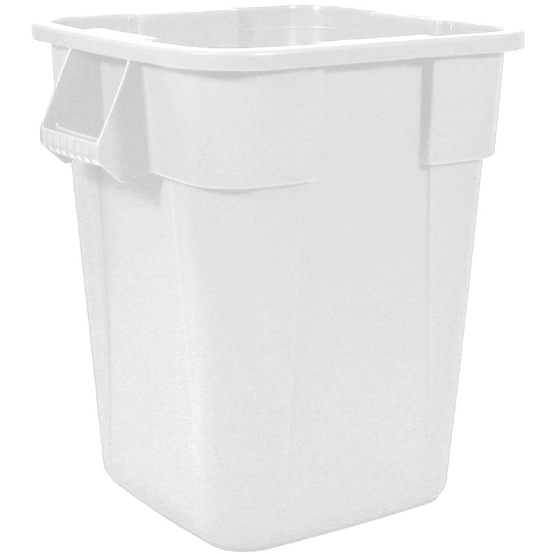 Rubbermaid FG353600WHT 40-gallon Brute Trash Can - Plastic, Square, Built-in Handles