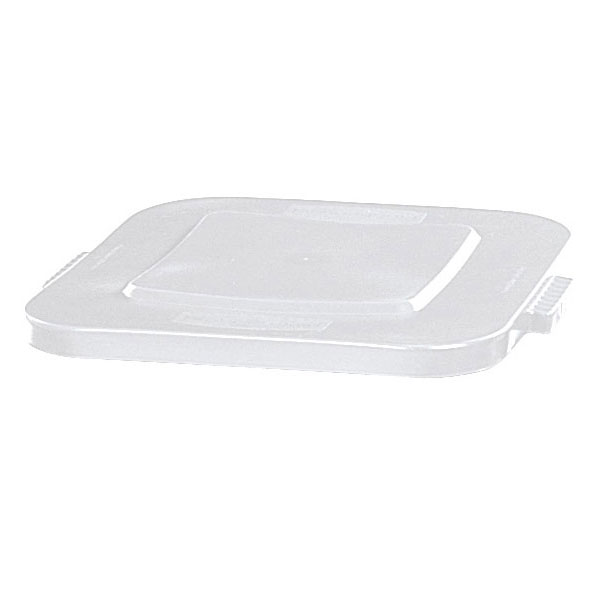 Rubbermaid FG353900WHT Square Flat Trash Can Lid - Plastic, White