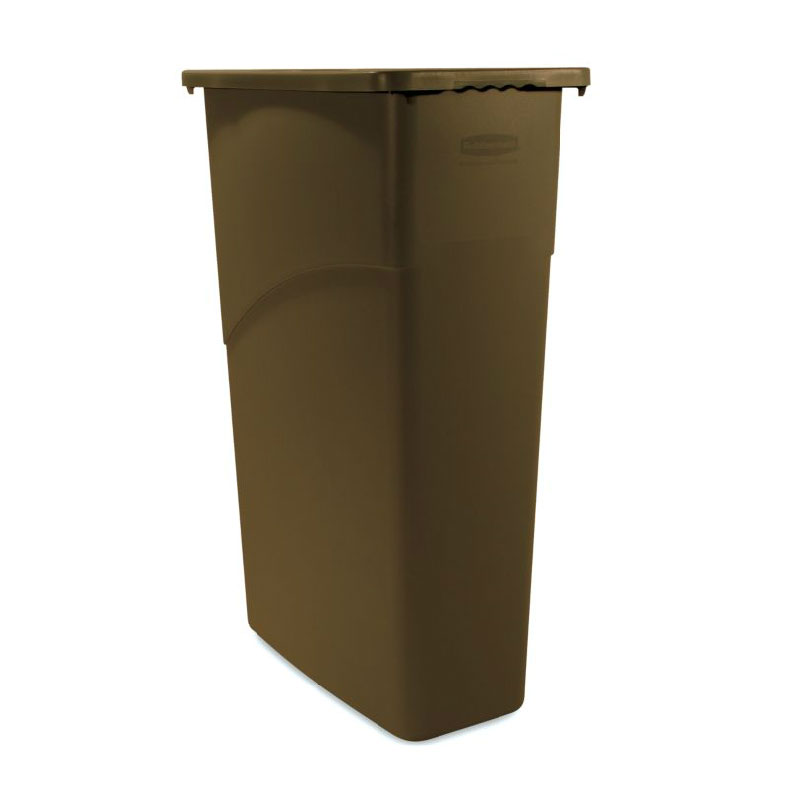 Rubbermaid FG354000BRN 23-gal Slim Jim Waste Container - Brown