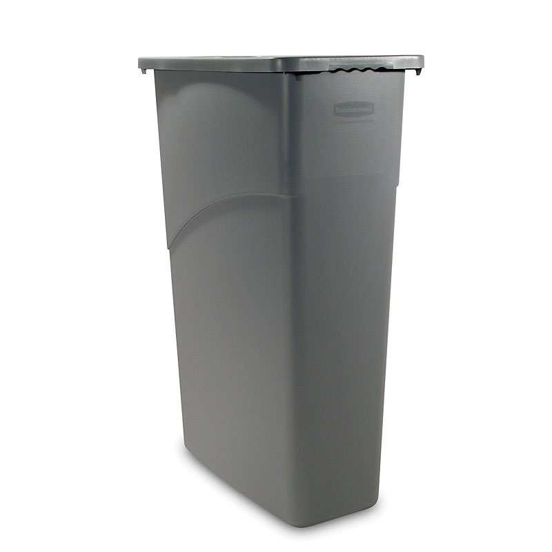 Rubbermaid FG354000GRAY 23-gal Slim Jim Waste Container - Gray