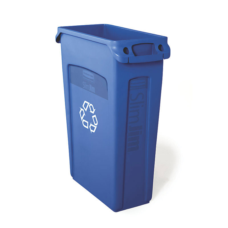 Rubbermaid FG354007BLUE 23-gal Multiple Material Recycle Bin - Indoor