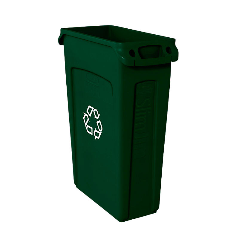 Rubbermaid FG354007GRN 23-gal Multiple Material Recycle Bin - Indoor