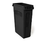Rubbermaid FG354060BLA 23-gal Slim Jim Container - Venting Channels, Black