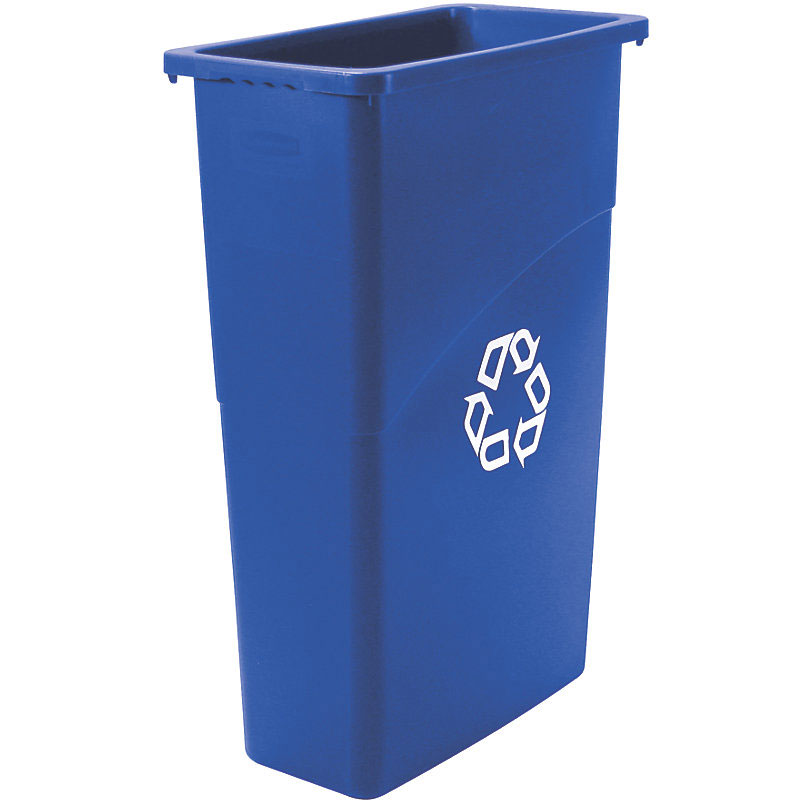Rubbermaid FG354075BLUE 23-gal Slim Jim Recycling Container - Blue