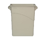 Rubbermaid FG354100BEIG 16-gal Slim Jim Waste Container - Beige