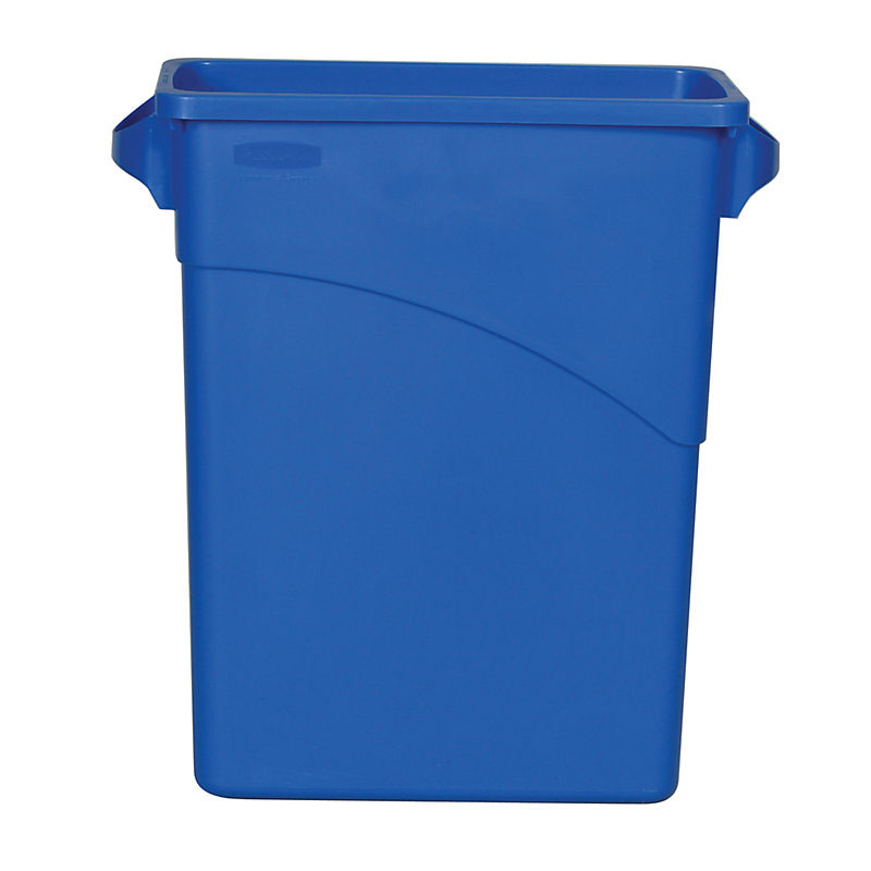 Rubbermaid FG354100DBLUE 16-gal Slim Jim Waste Container - Dark Blue