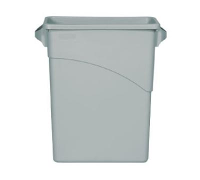 Rubbermaid FG354100LGRAY 16-gal Slim Jim Waste Container - Light Gray
