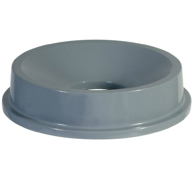 Rubbermaid FG354300GRAY Round, Funnel Trash Can Lid - Plastic, Gray